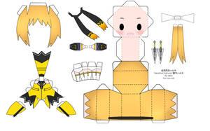 Beat Blades Haruka Papercraft by tsunyandere