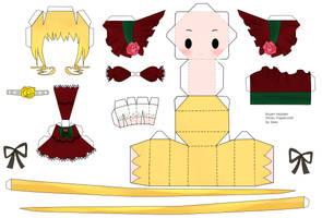 Rozen Maiden Shinku Paper by tsunyandere
