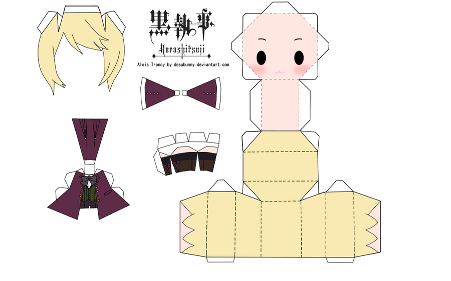 Alois Trancy Papercraft by tsunyandere