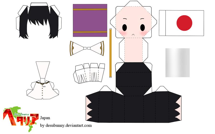 hetalia hetalia tsunyandere by templates papercraft papercraft on deviantart japan hetalia animoo papercraft hetalia paperdolls