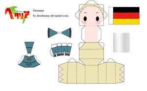 Hetalia Germany Papercraft by tsunyandere