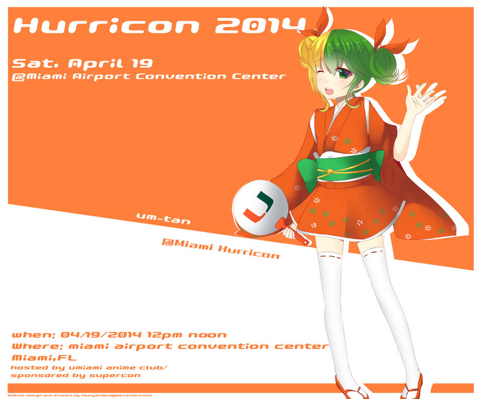 Hurricon 2014 Anime Convention Mascot by tsunyandere