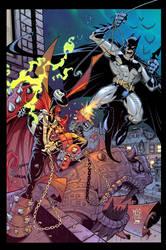 Spawn VS Batman :: COLOUR by Red-J
