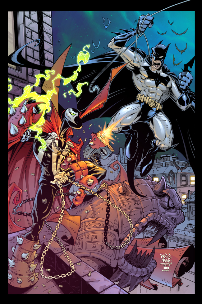 Spawn VS Batman :: COLOUR by Red-J