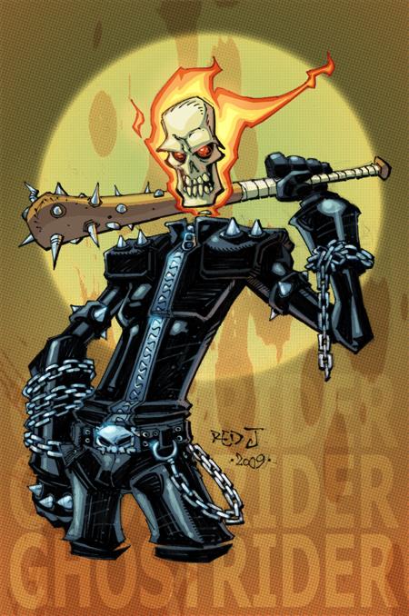 OC2 sketch 07 :: Ghost Rider by Red-J