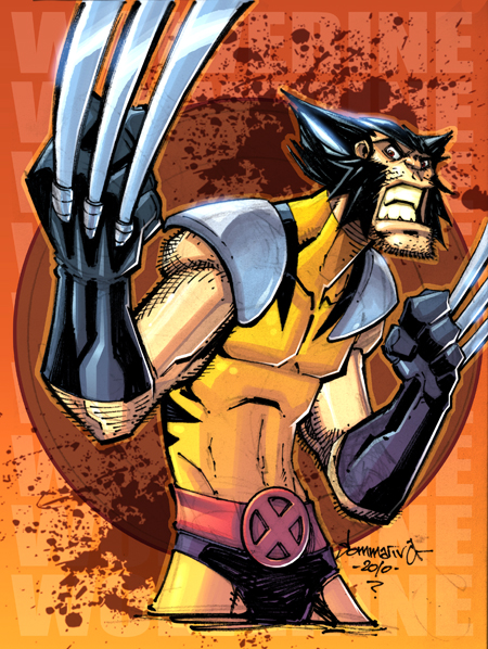 OC2 sketch 09 :: Wolverine by Red-J