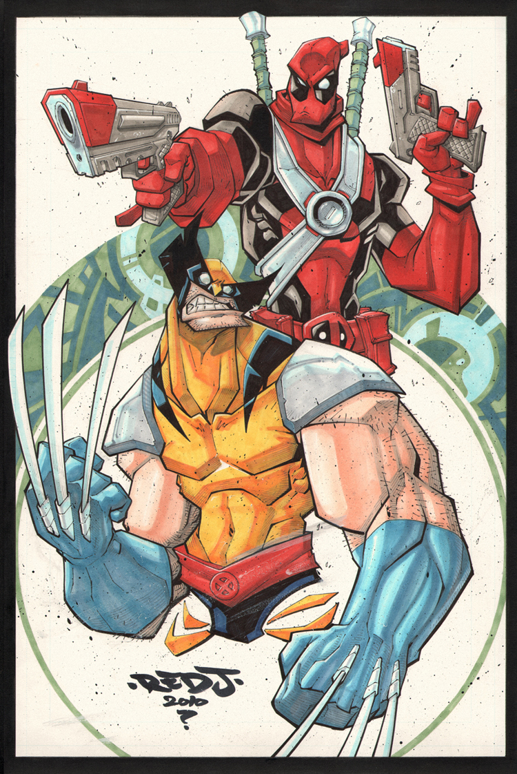 Deadpool y Wolverine :: Copics by Red-J