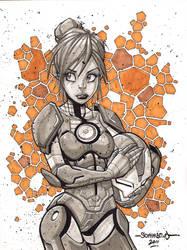 Pepper Potts :: Sketch 01 by Red-J