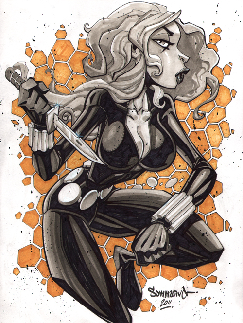 Black Widow :: sketch 05 by Red-J