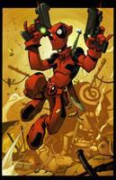 Deadpool Junkyard Jump by Red-J