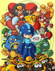 Megaman tribute piece by Red-J