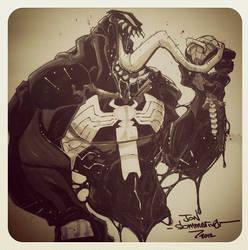 Con sketch :: Venom :: Spidey is dead by Red-J