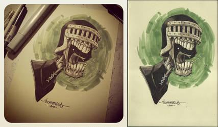Judge Death :: OC3 Head Sketch 02 by Red-J