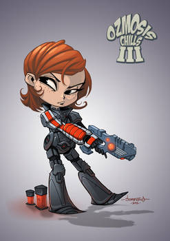 Female Shepard Chibi :: Mass Effect 3