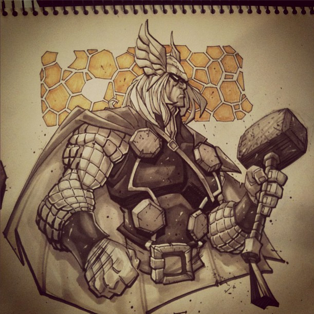 THOR :: copic marker sketch by Red-J