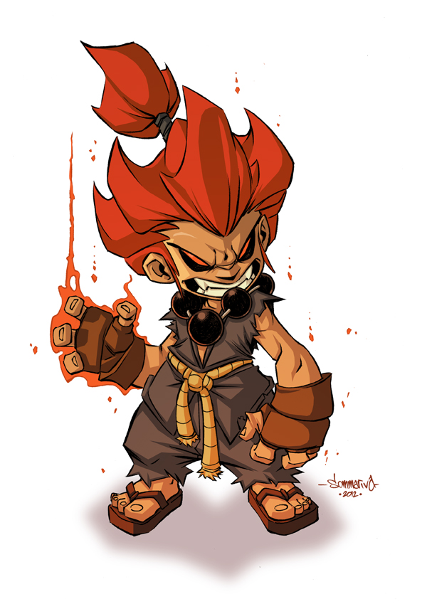 Akuma :: Chibi Commish by Red-J