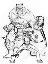 Dark Knight Sketch by Red-J