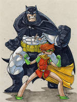 Dark Knight and Robin by Red-J