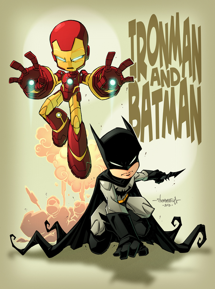 Ironman and Batman kids in colour by Red-J on DeviantArt