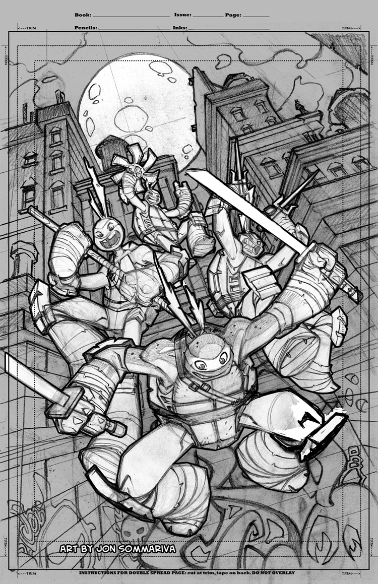 TMNT Amazing Adventures 1 cover pencils by Red-J