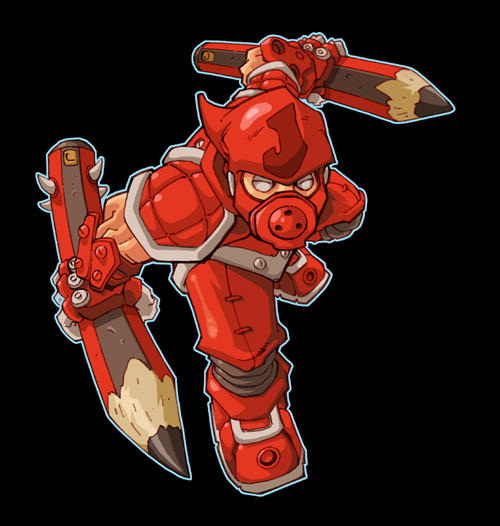 Chibi :: Red ninja by Red-J