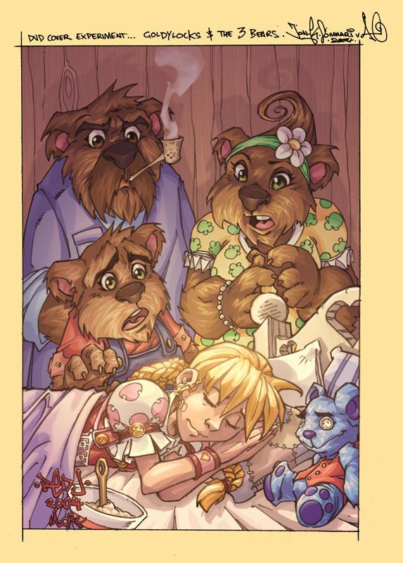 Goldylocks + 3 bears by Red-J