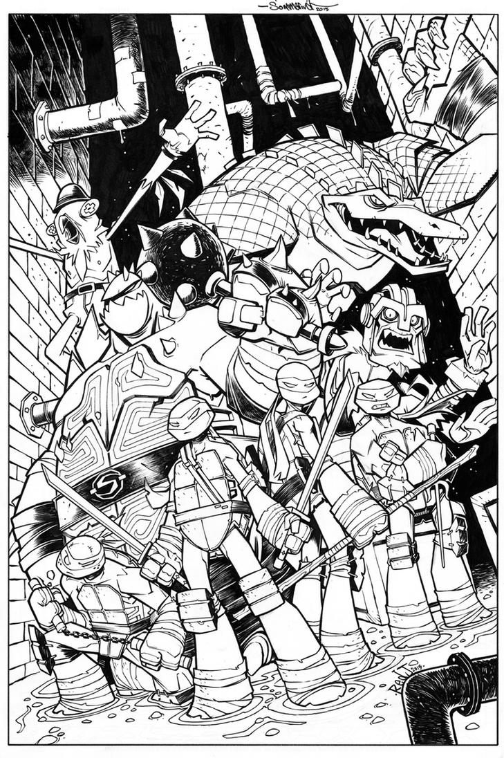 TMNT Amazing Adventures 4 COVER INK by Red-J