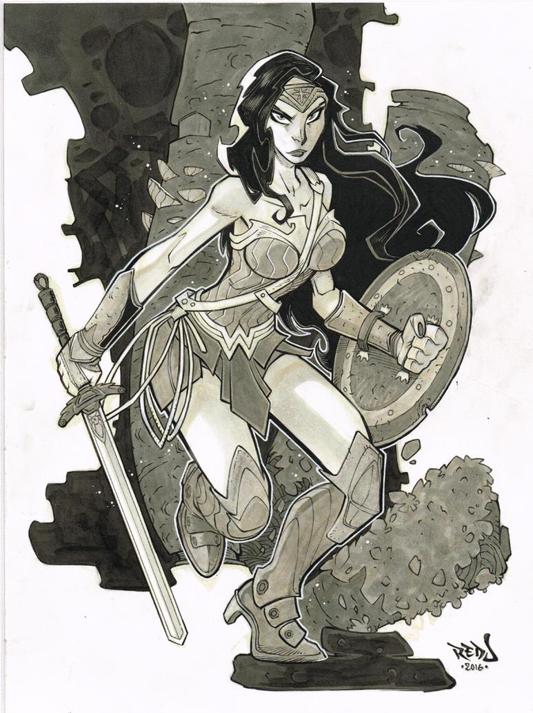 Wonder Woman by Red-J