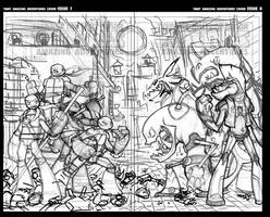 TMNT Amazing Adventures 7 and 8 Cover Pencils