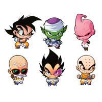 DBZ Chibi Sticker set