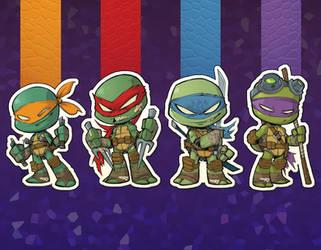 TMNT chibi Stickers!