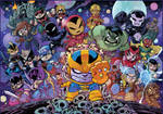 Chibi Avengers VS Thanos