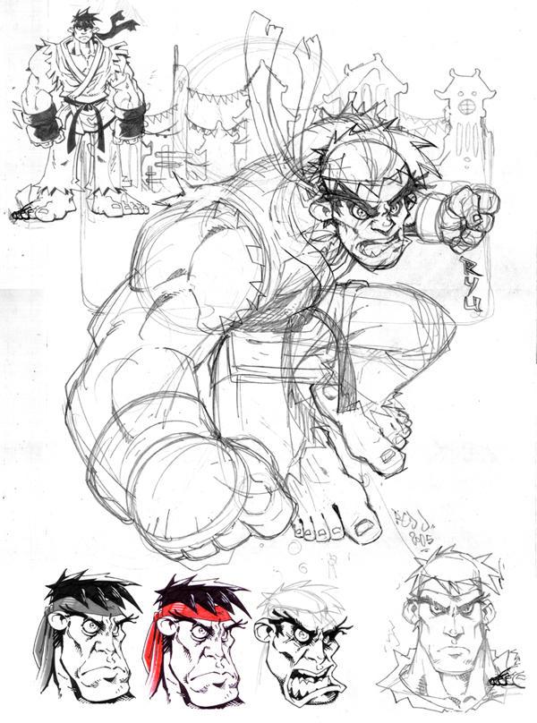 RYU : Sketchy WIP by Red-J