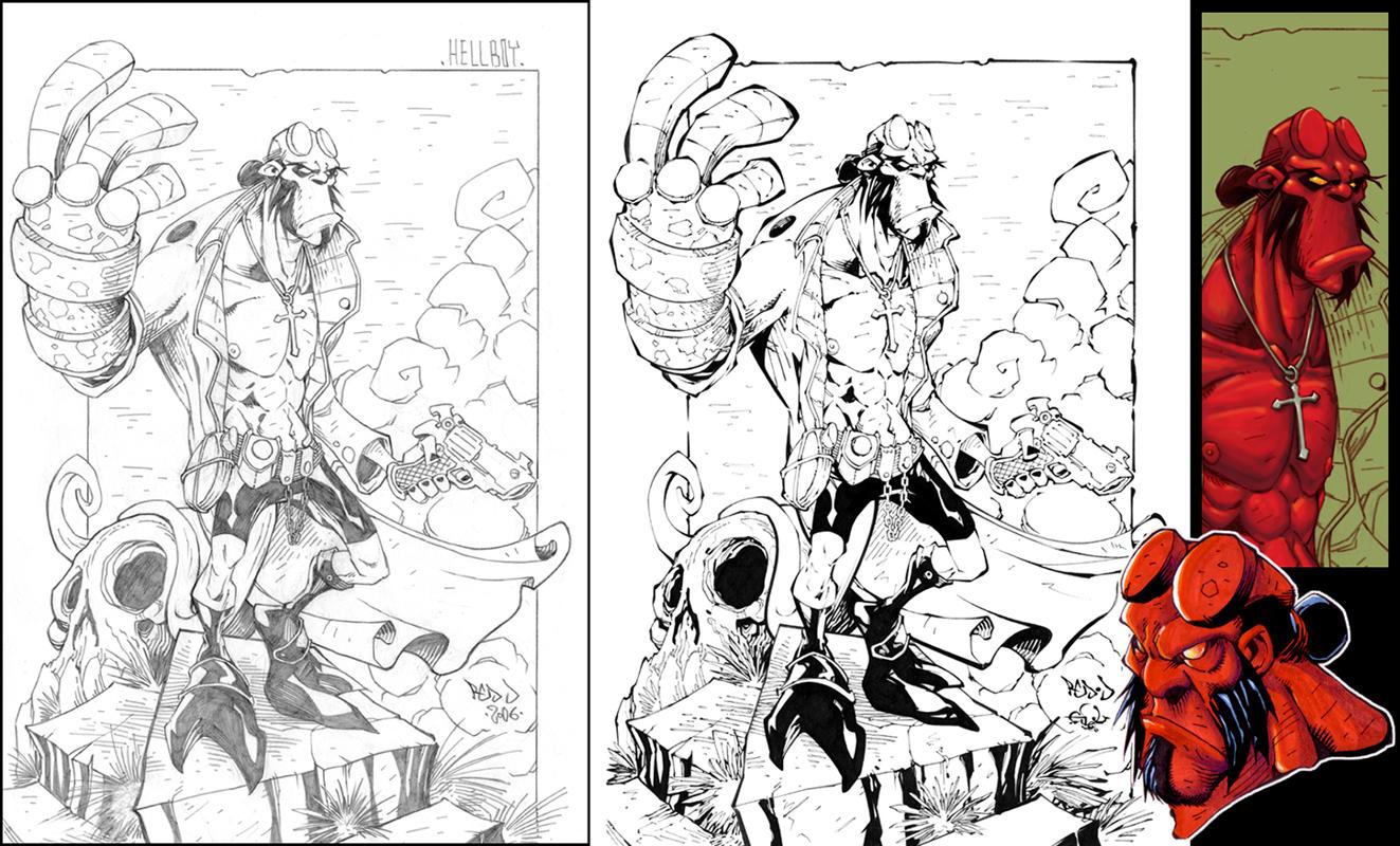 Coloring Pages Hellboy Coloring Pages hellboypencils inks more by red j on deviantart j