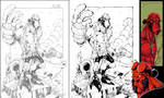 Hellboy::Pencils, Inks + more