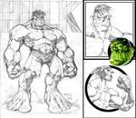 Sketch6:HULK and WOLVIE