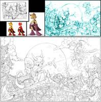 Sketch9:Rough ninjas by Red-J