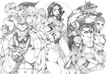 Sketchbook SuperHeroes by Red-J