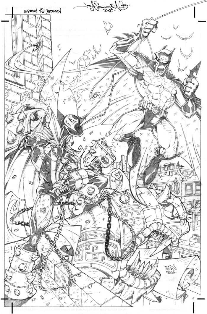 Trendy Spawn Vs Batman By Redj With Coloring Pages