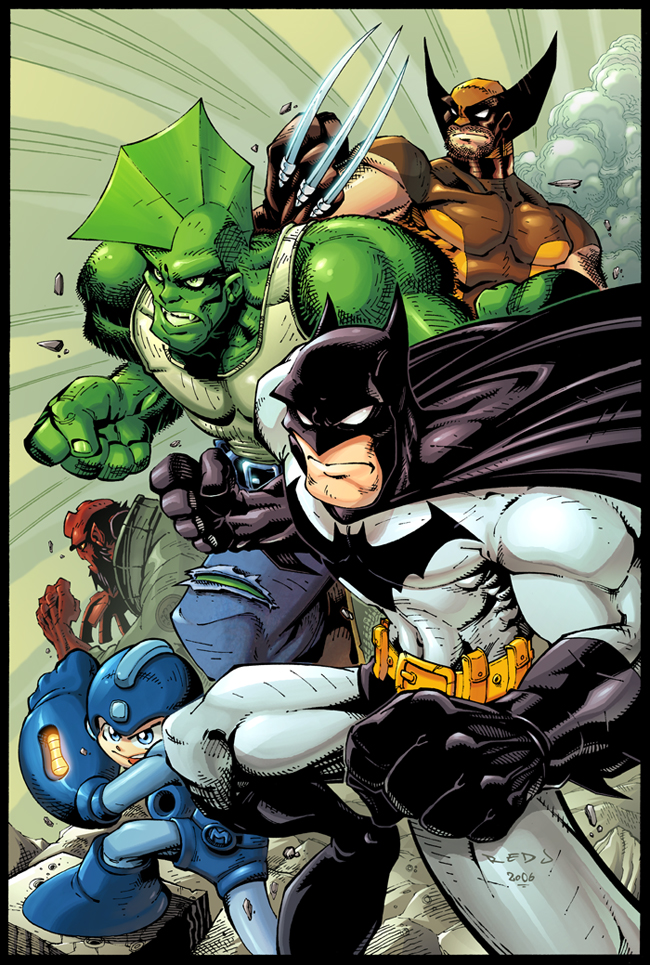 """Cool pictures Rated """"E"""" for everyone - Page 6 Bats__Dragon__Mega__Wolvie__HB_by_Red_J"""