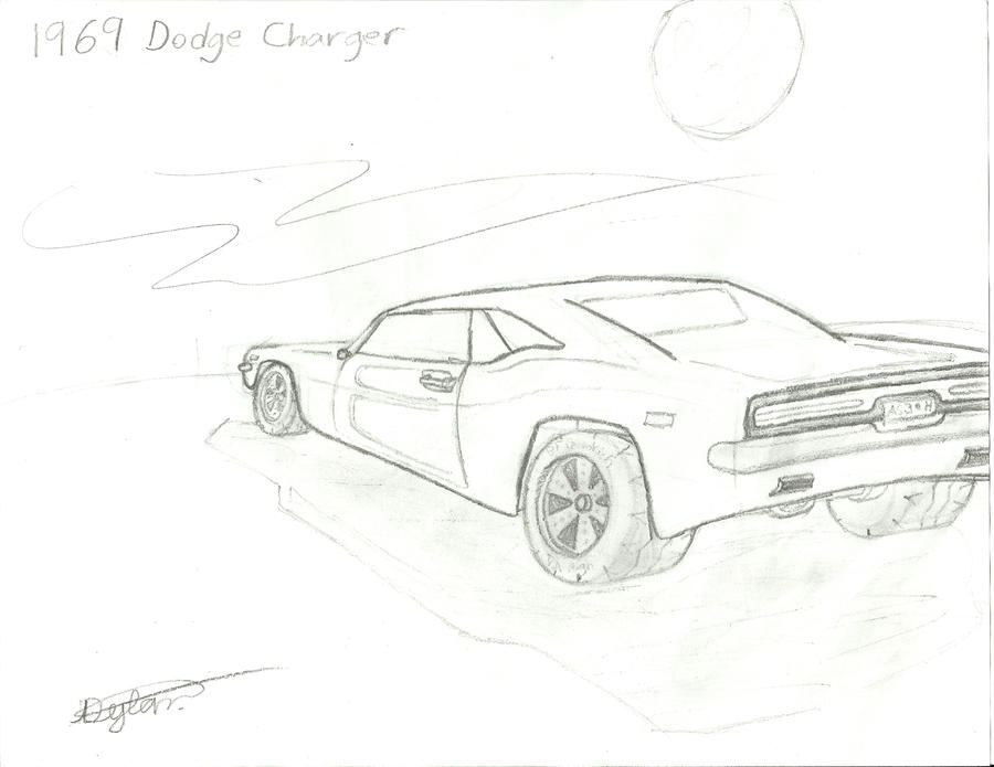 1969 dodge charger drawings