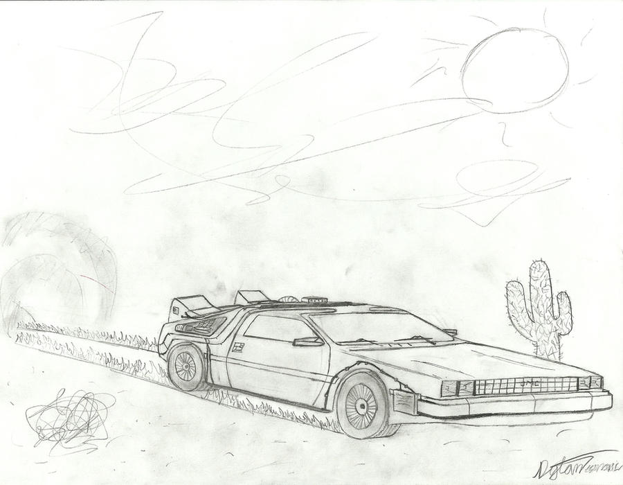 Back to the Future Delorean by Barracudacar on DeviantArt