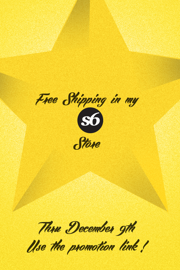 Free Shipping in my Soc6 Store by lagota