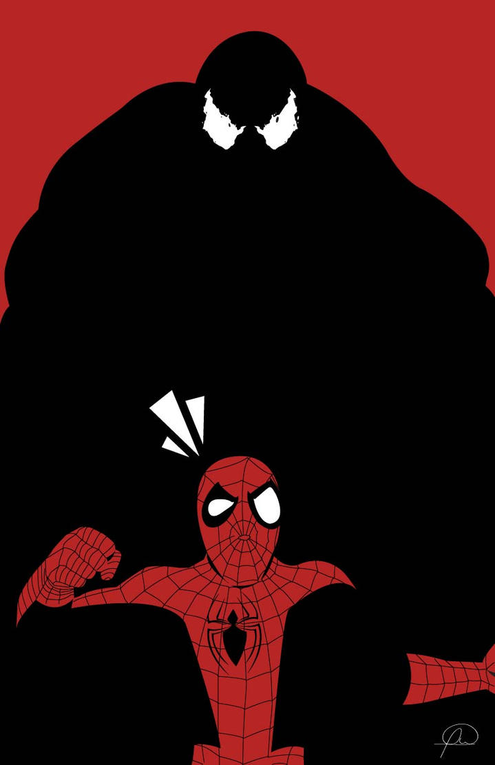Ultimate Spiderman vs Venom by lagota