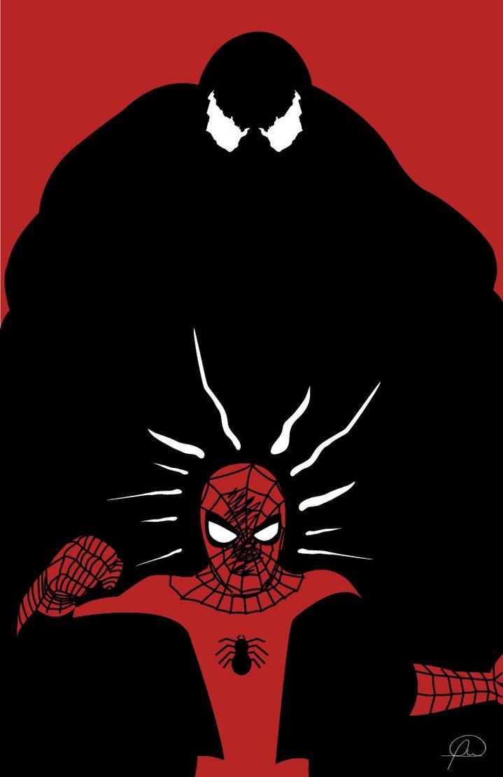 Classic Spiderman vs Venom by lagota
