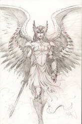 Hawkgirl - Angel by JMan-3H