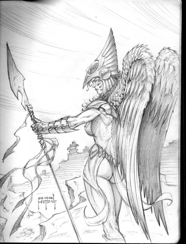 coloring pages of hawkgirl - photo#10