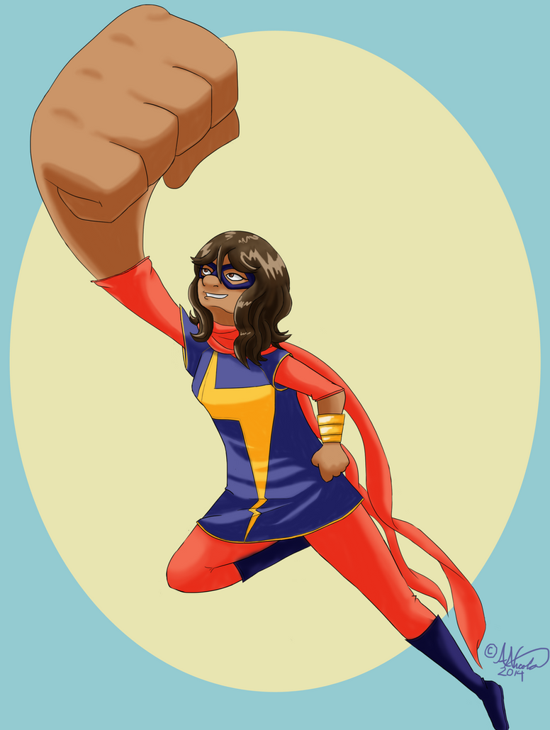 Kamala Khan (Ms. Marvel) by Aura-Cat