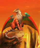 Colourfull Gryphon by Pittyputty