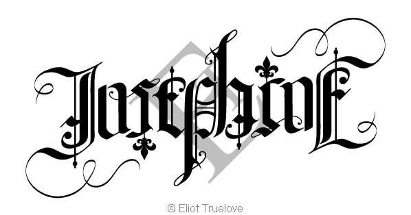 Josephine Ambigram by TrueLovePrevails